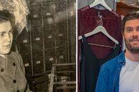Viola Jansson under ett av arbetspassen i Engströms trikåaffär – numera ägs butiken av barnbarnet Joel Canerstam.