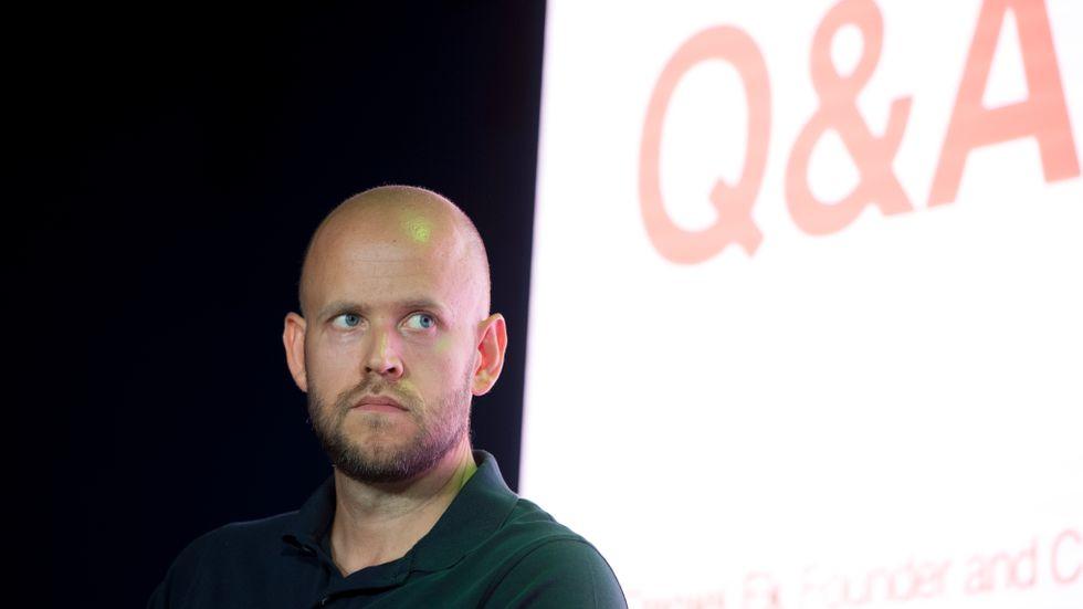 Spotifys grundare Daniel Ek säger att de fortfarande är på god väg att nå en miljard prenumeranter. Arkivbild från 2018.