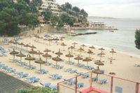 Palma de Mallorca. Arkivbild från ett av de ovanliga tillfällen då dåligt väder fick turister att hålla sig inomhus.
