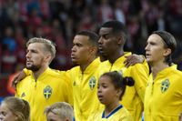 De svenska spelarna har blivit informerade om hur de ska agera om de blir utsatta för rasism i EM-kvalet mot Rumänien. Arkivbild.