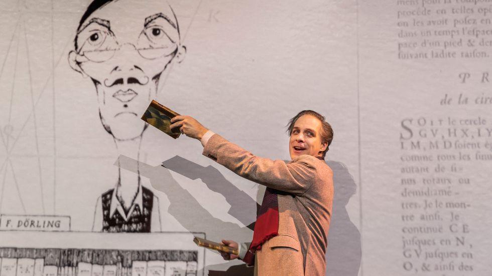 """Fredrik Meyer i """"På jakt efter bibliotekstjuven"""" på Soppteatern. Vad fick en erkänd akademiker att begå brott?"""