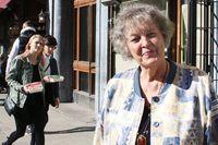 Skånegatan då: Eila Lindholm med mamma Ellida Bohlin (t h) och moster Ada. Eila kom till Nytorget 1942 som krigsbarn. Skånegatan nu: Eila Lindholm ser fortfarande tillbaka på tiden på Nytorget med värme. Här står hon åter på samma plats som hon gjorde den där dagen 1942.