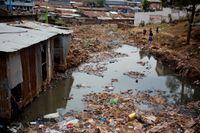 En bild från slumområde i Kenyas huvudstad Nairobi.