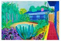"""David Hockney, """"Garden"""", 2015."""