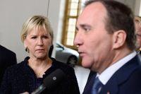 Utrikesminister Margot Wallström (S) och statsminister Stefan Löfven (S).