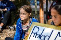 Greta Thunberg är inte imponerad av de svenska partiledarnas klimatengagemang. Arkivbild.