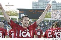 Stefan Selakovic jublar efter sitt 1-0-mål för IFK.
