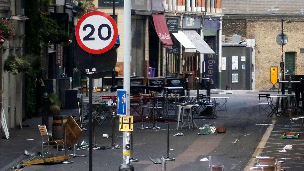 Borough Market i London efter attacken. Arkivbild.