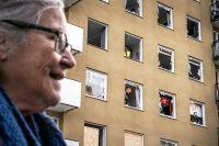 En kraftig explosion inträffade på Gyllenstiernsgatan natten till måndag. Karin Holmgren har bott i huset sedan hon var sex år.