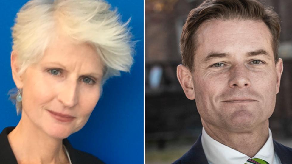 Anna Maria Corazza Bildt och Joakim Larsson.