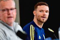 Förbundskapten Janne Andersson och lagkapten Marcus Berg.