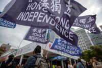 Prodemokratiska demonstrationer i Hongkong för ett drygt år sedan. Arkivbild.