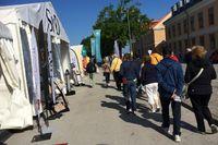 Befinner du dig i Almedalen? SvD:s tält är öppet. Välkommen in! Foto: Malin Bonde