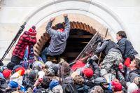 Kapitolium stormas den 6 januari. Totalt uppskattas cirka 800 människor varit inne i kongressbyggnaden.