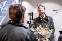 Journalisten Henrik Evertsson i Göteborgs tingsrätt i januari när huvudförhandlingen inleddes.