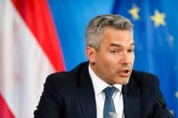 Österrikes inrikesminister Karl Nehammer. Arkivbild.