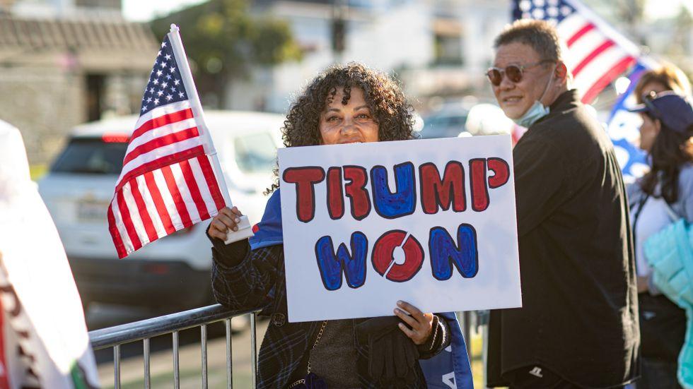 Trump/Qanon-demonstration.