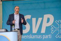 Svenskarnas partis partiledare Stefan Jacobsson i Almedalen 2014.