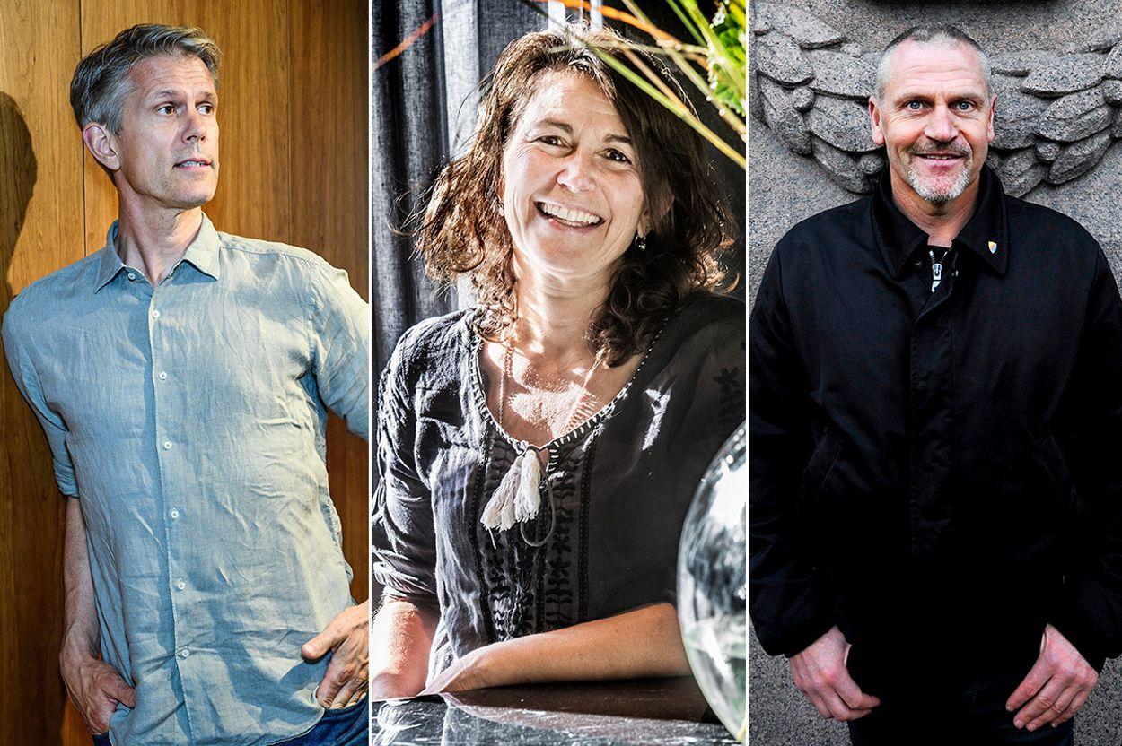 Creandums Staffan Helgesson, professor Robin Teigland och Zeniths Tommy Jacobsson.