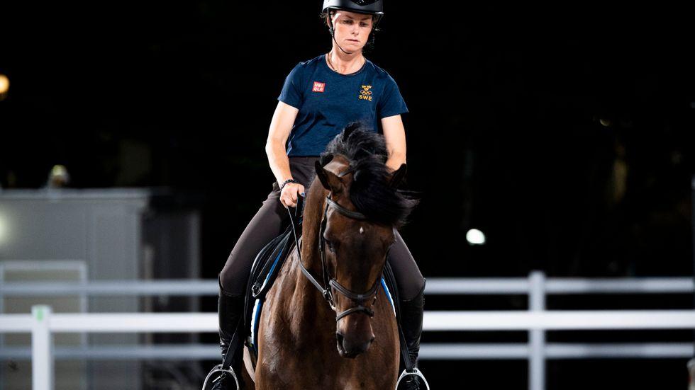 Sara Algotsson Ostholt med hästen Chicuelo. Arkivbild.