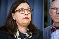 Utbildningsminister Anna Ekström (S) och statsvetaren Jonas Hinnfors.