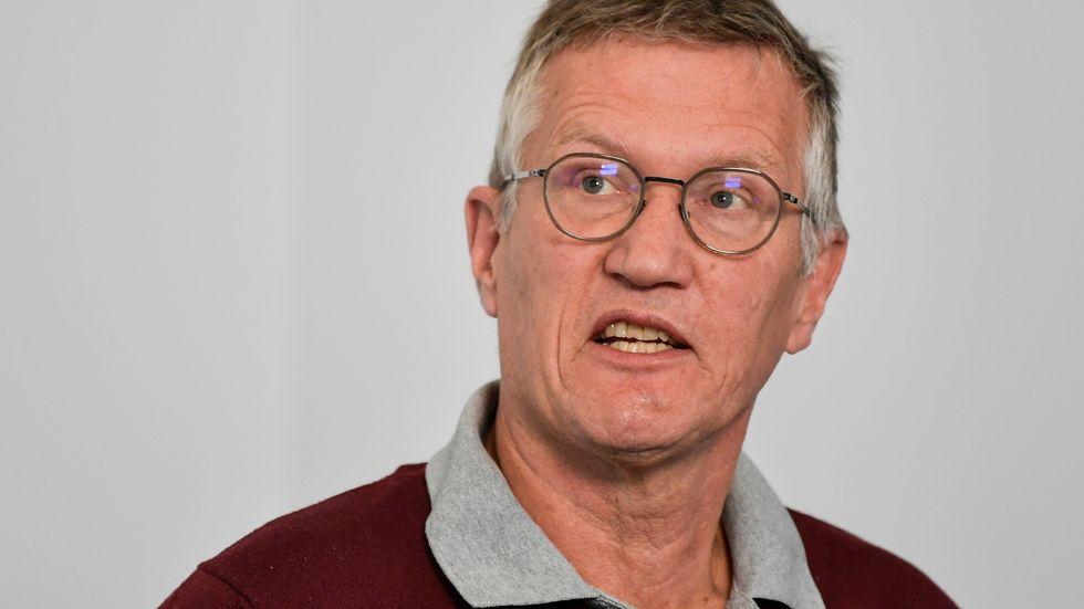 """Statsepidemiolog Anders Tegnell tycker inte att strategin """"hammaren och dansen"""" skiljer sig nämnvärt från den strategi som redan tillämpas i Sverige. Arkivbild."""