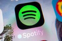 Musikströmningstjänsten Spotifys förlust minskar. Arkivbild.