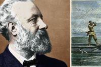 Jules Verne och hans kapten Nemo.