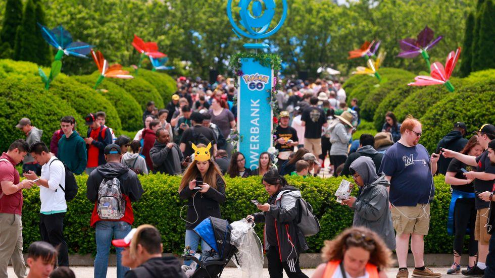"Deltagare vid ett ""Pokémon go""-evenemang i Chicago tidigare under sommaren."