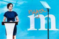 Anna Kinberg Batra med teleprompter.