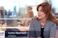 Azita Shariati, vd för Sodexo, gästade Ekonomistudion torsdag för att tala om hållbarhetsarbete.
