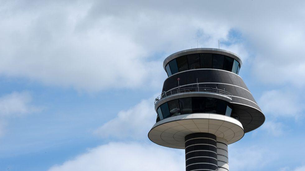 Flygledningstornet på Arlanda flygplats. Arkivbild.