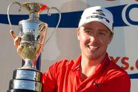 Jonas Blixt efter sin första seger på PGA-touren.