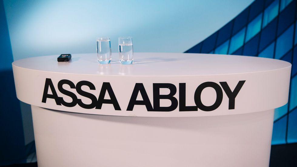 Assa Abloy presenterar kvartalsresultatet. Arkivbild.
