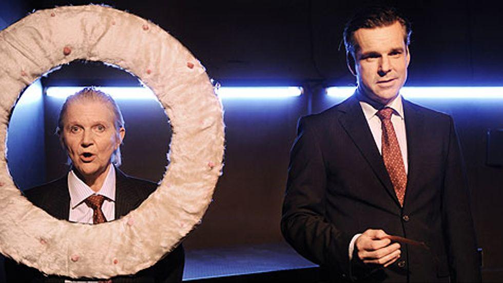 Gunilla Abrahamsson och Per Burell i Alla älsara Bernie Madoff.