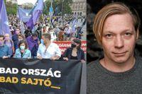 Författaren Daniel Gustafsson bevakar Ungern för  Svenska Pen.