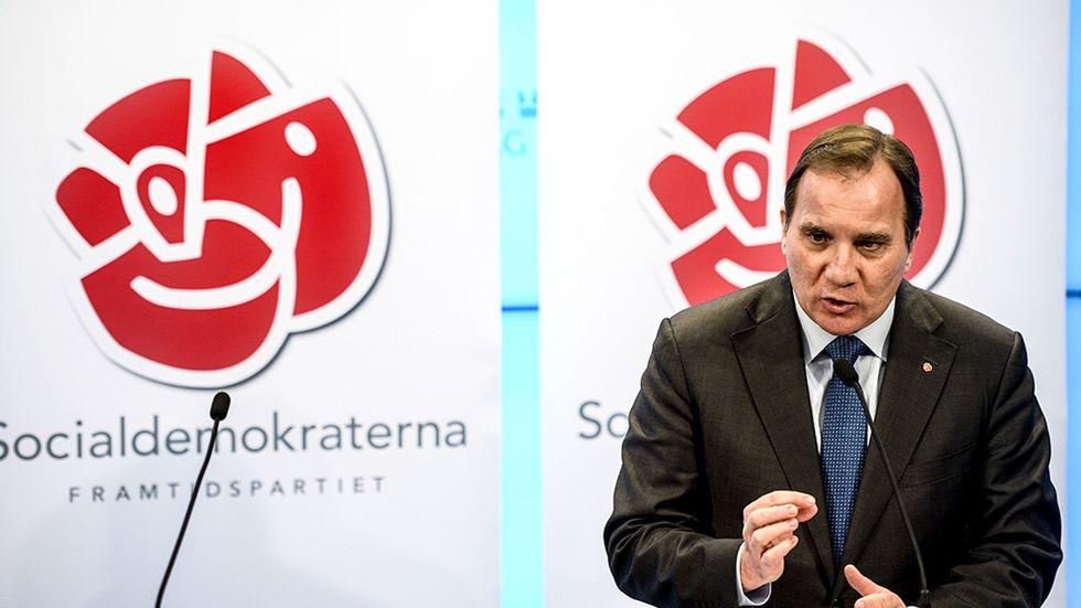 Stefan Löfven, Socialdemokraternas ledare.
