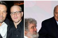 Affleck och Damon samt Fifa-männen Chuck Blazer och Sepp Blatter.