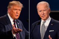 Donald Trump och Joe Biden frågades ut i varsin tv-kanal.