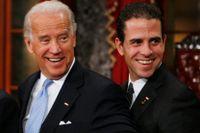 Joe Biden med sonen Hunter 2009, då fadern blev vicepresident under Barack Obama.