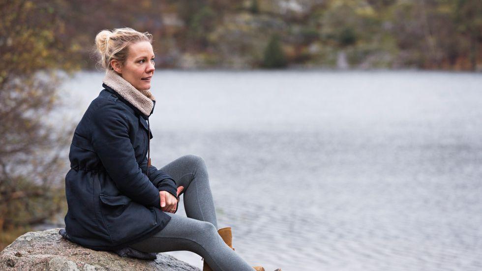 Josefine Lopes Helgesson har lämnat stan tillsammans med sin familj för att slippa alla höga ljud och intryck.