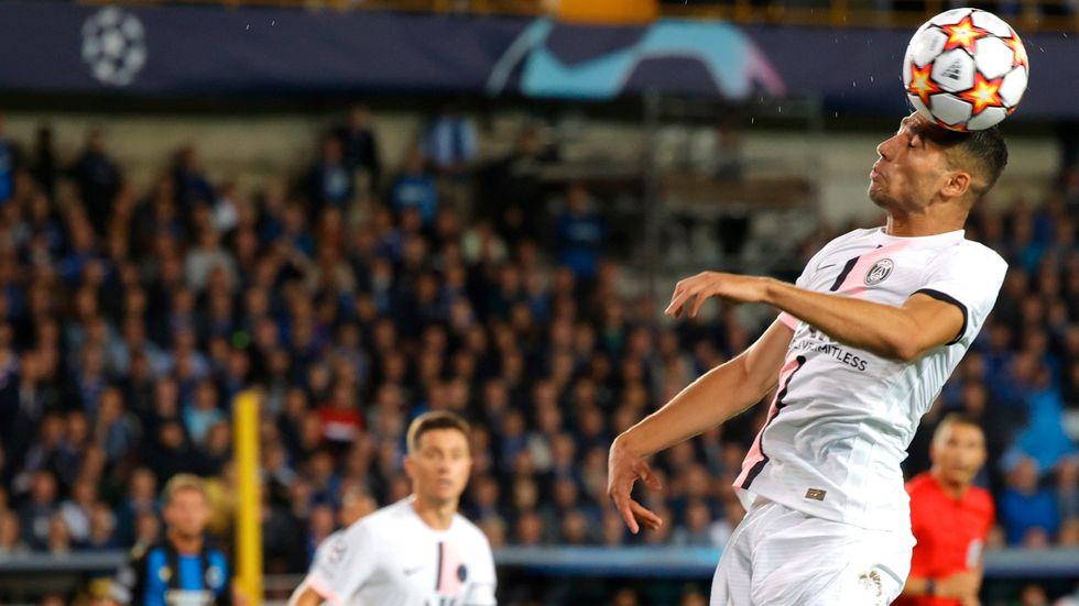 Achraf Hakimi gjorde båda målen för PSG. Arkivbild.
