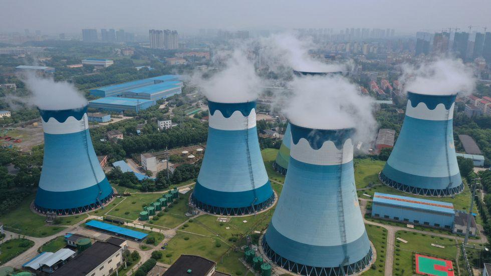 Kolkraftverk i Nanjing, Kina.