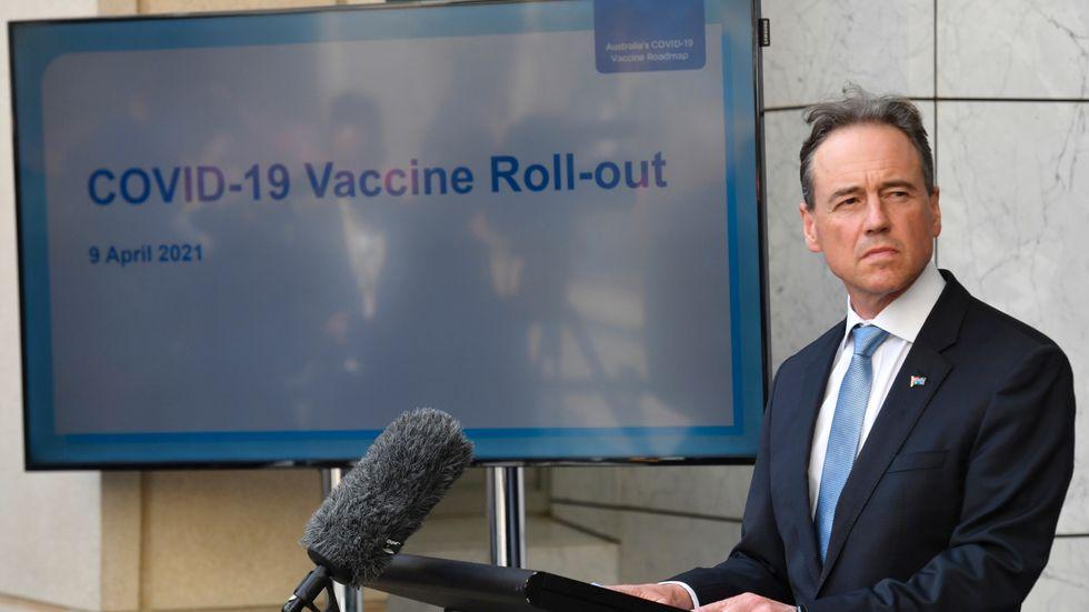 Australiens hälsominister Greg Hunt. Arkivbild.