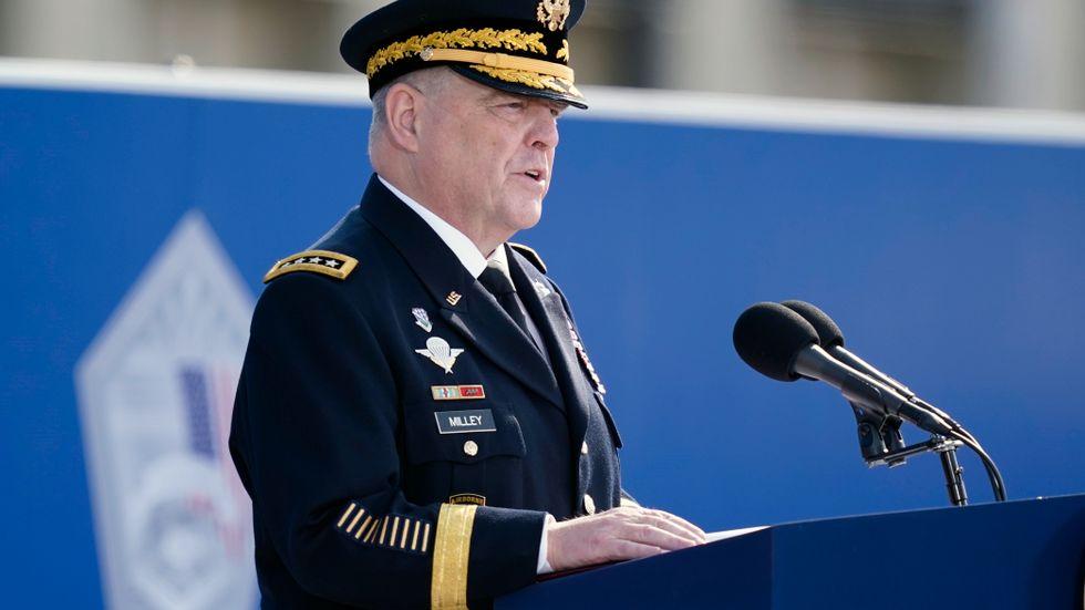 USA:s försvarschef general Mark Milley lugnade Kina om Trump. Arkivbild.