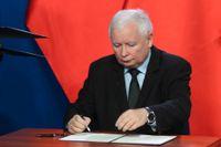 Jaroslaw Kaczynski, ledare för det nationalkonservativa polska regeringspartiet Lag och rättvisa (PIS). Arkivbild.