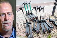 Trafikborgarrådet i Stockholm, Daniel Helldén (MP) vill att elsparkcyklar som felparkeras ska flyttas av stadens p-vakter.