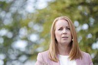 Centerledaren Annie Lööf beklagade Centerstämmans beslut 2019 att vilja förbjuda omskärelse av pojkar. Nu tycks stämman vara på väg att upphäva beslutet. Arkivbild.