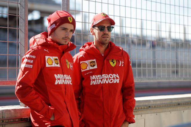 Rivalerna Charles Leclerc och Sebastian Vettel.