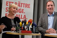 Margot Wallström och Stefan Löfven.